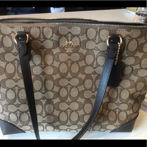 Brand new with tags Coach signature tote!